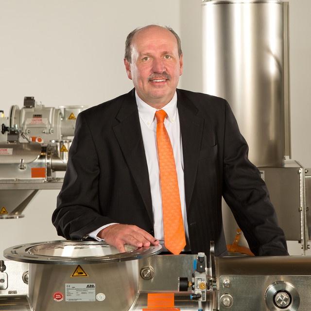 bulk material handling sales engineer David Pippert of AZO, Inc.