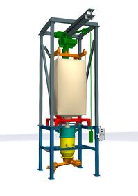modular stock program for quick delivery of super sack unloader systems