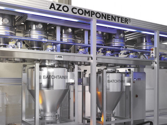 AZO COMPONENTER Linear Design with Mobile Scale and BATCHITAINER®